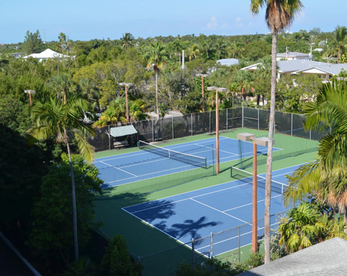 Tennis courts at 1800 Atlantic
